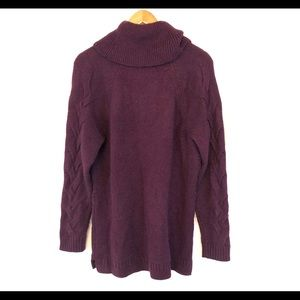 Calvin Klein Sweaters - Calvin Klein Purple Cable Knit Cowl Neck Sweater